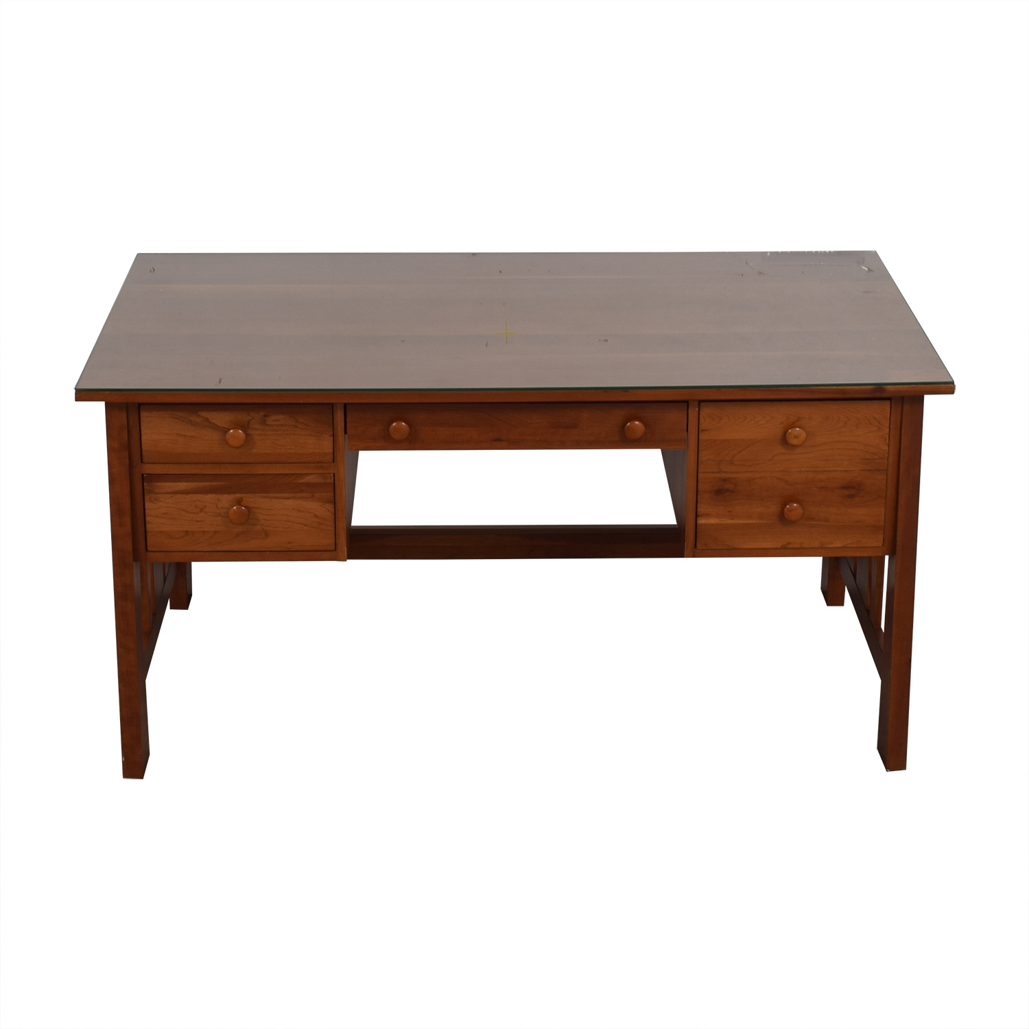 Ethan Allen Cherry Wood Mission Desk sale