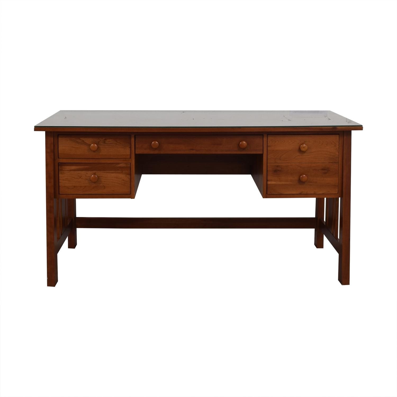 Ethan Allen Cherry Wood Mission Desk Dimensions