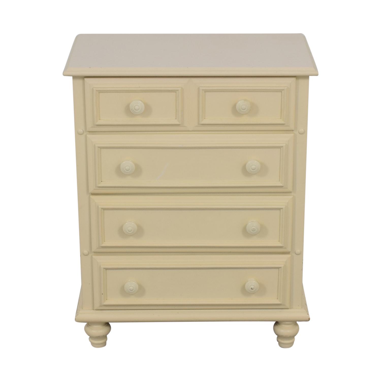 Lexington Lexington White Four-Drawer Dresser Storage