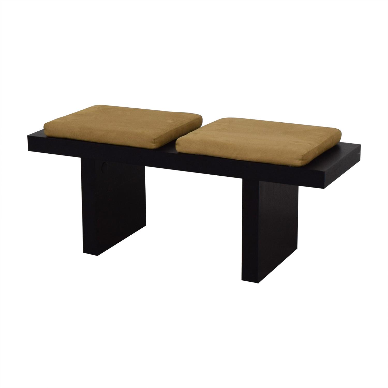 shop West Elm Beige Cushion Bench West Elm Chairs