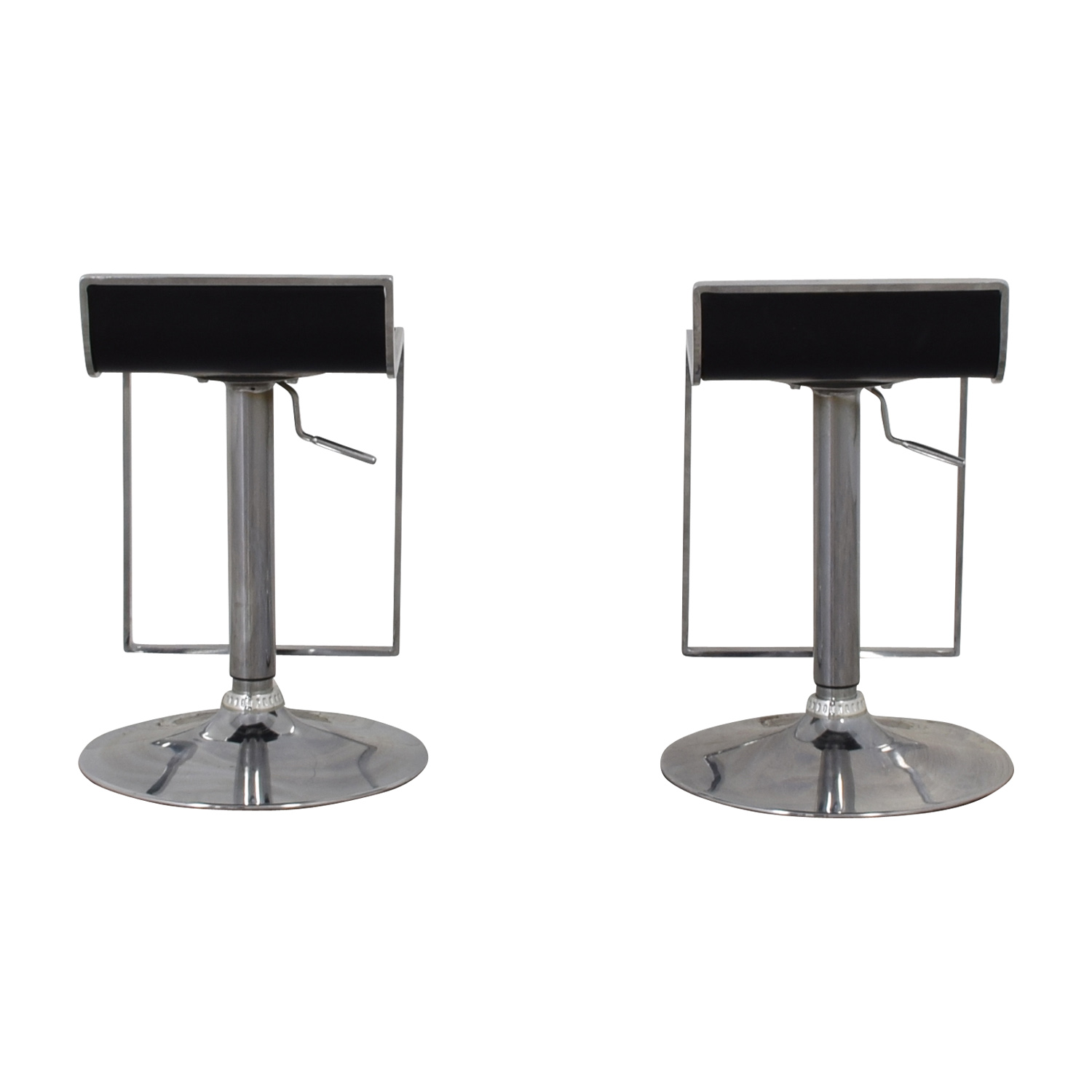 buy CB2 Modern Leather Stools CB2 Stools