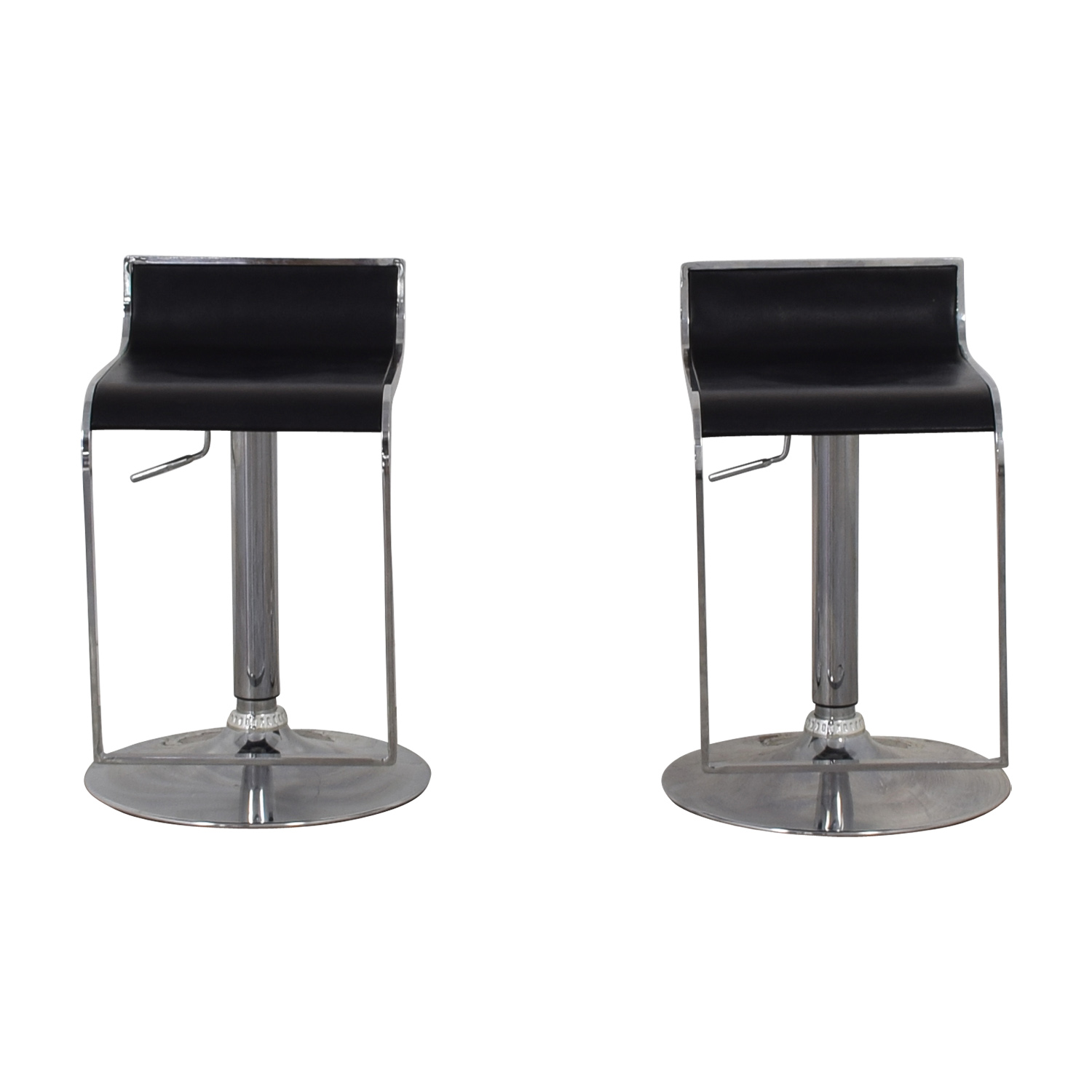 shop CB2 Modern Leather Stools CB2