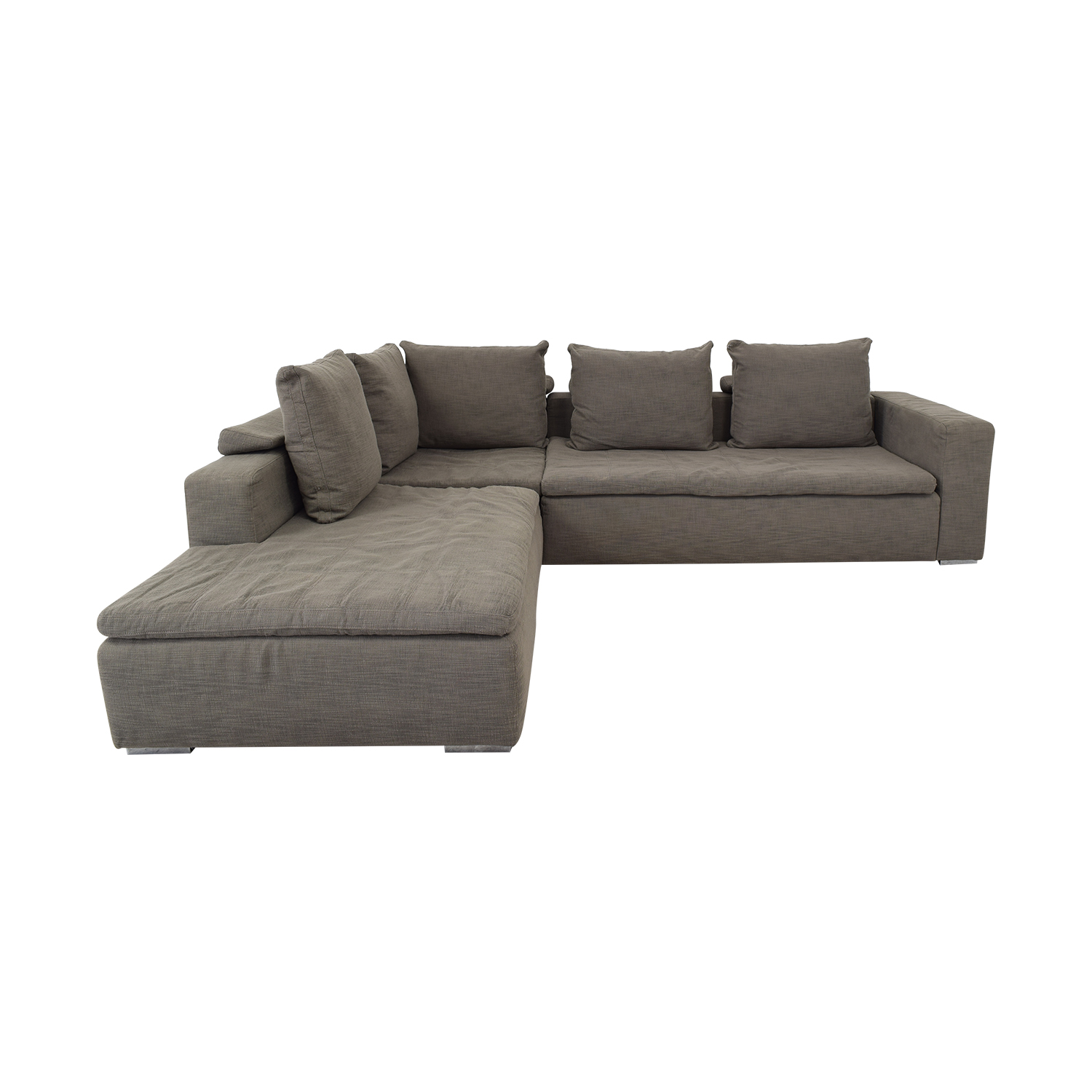 82% OFF - BoConcept BoConcept Gray L-Shaped Sectional / Sofas