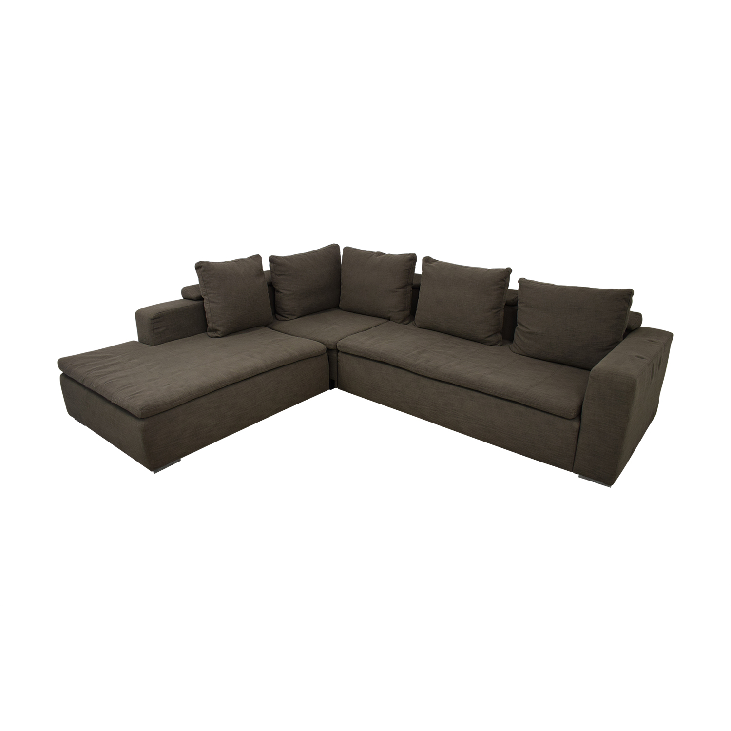 shop BoConcept Gray L-Shaped Sectional BoConcept Sofas