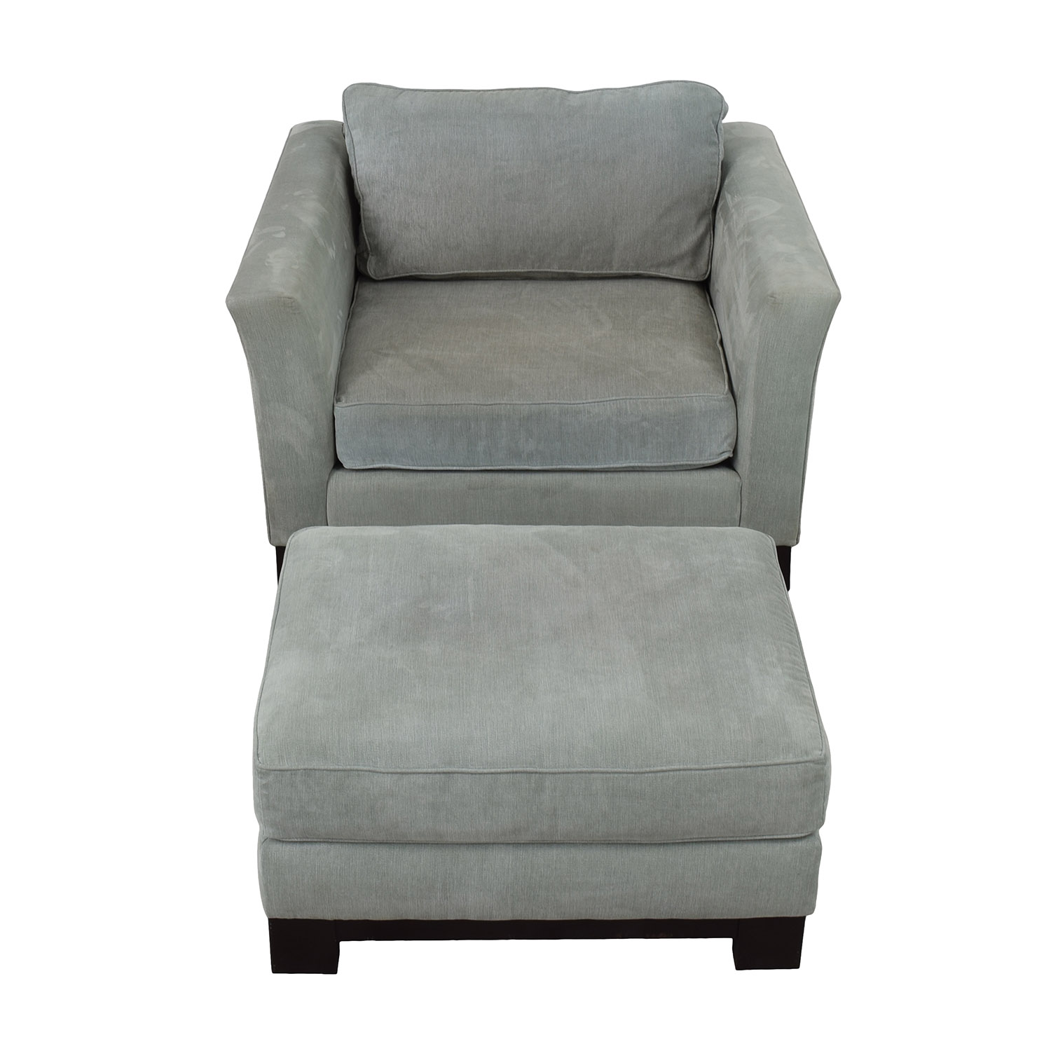 Jonathan Louis Jonathan Louis Grey Accent Chair and Ottoman