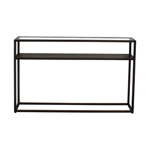 Crate & Barrel Crate & Barrel Switch Glass Wood and Metal Console Table price