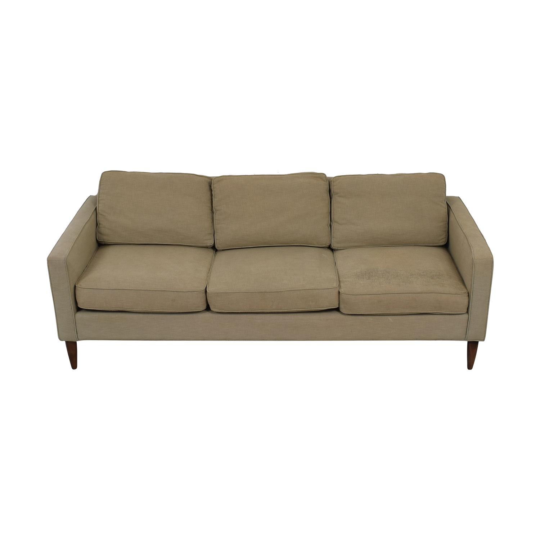 buy Room & Board Murray Beige Three-Cushion Sofa Room & Board