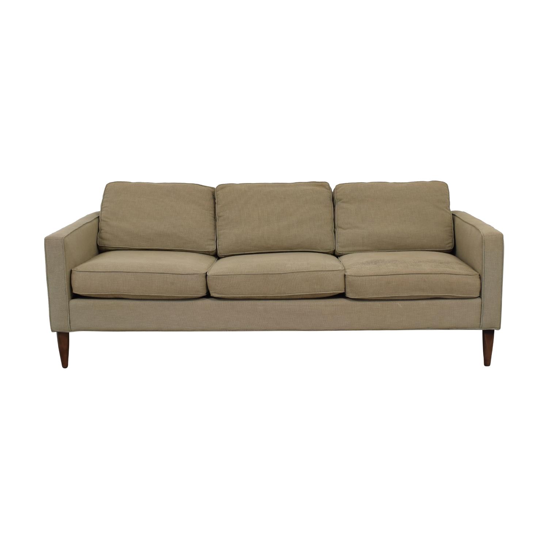 Room & Board Room & Board Murray Beige Three-Cushion Sofa nj