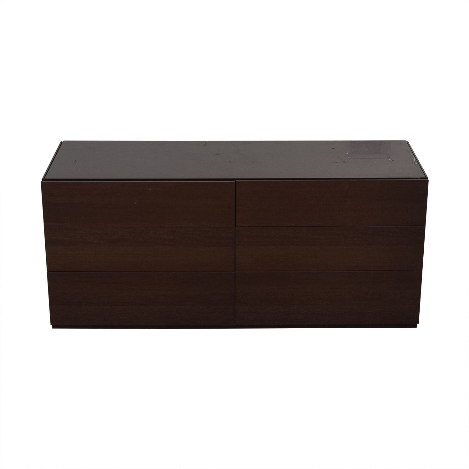 Calligaris Six-Drawer Dresser with Glass Protective Top sale