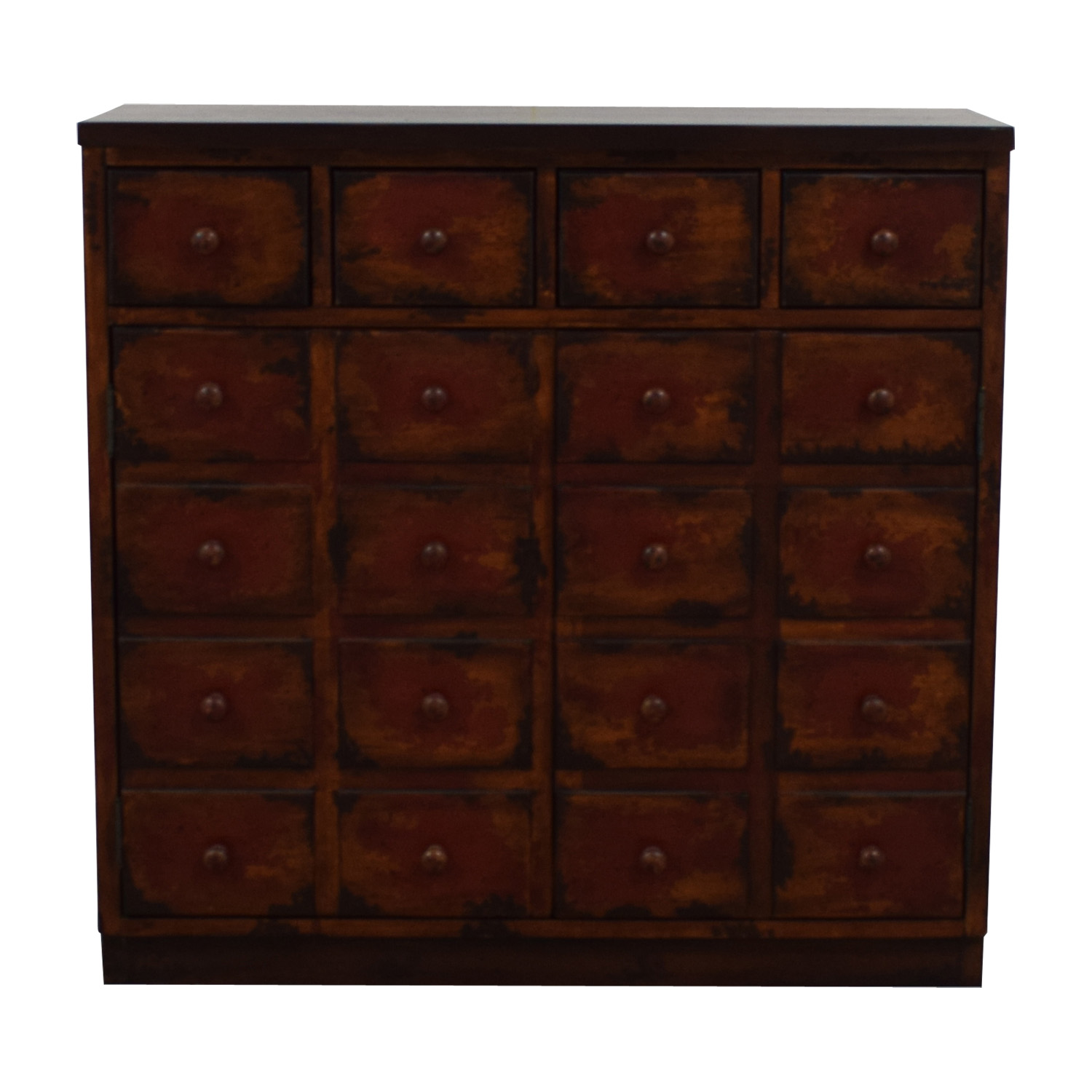 Faux Drawer Media Cabinet with Four Drawers nj