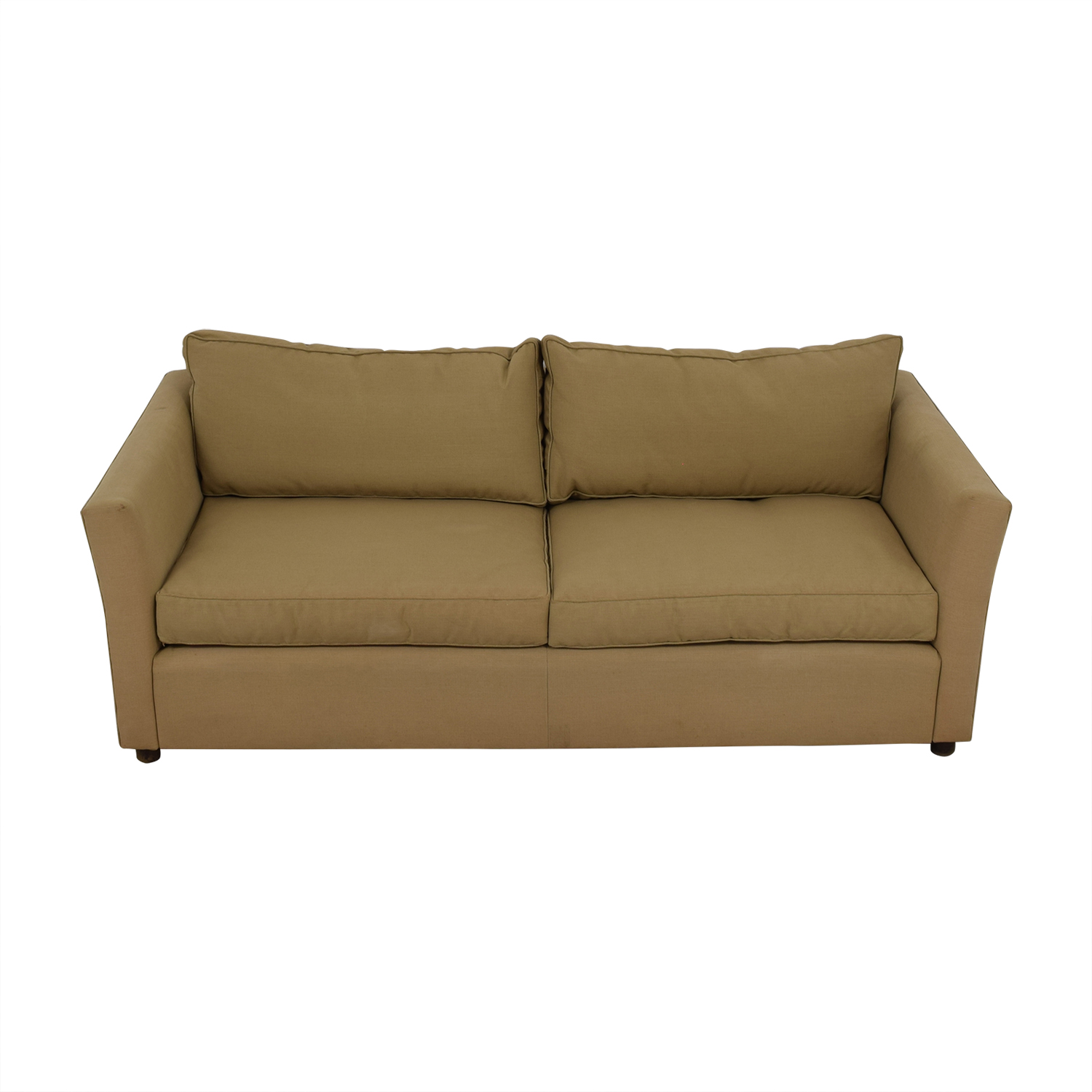 Beige Two-Cushion Sofa discount