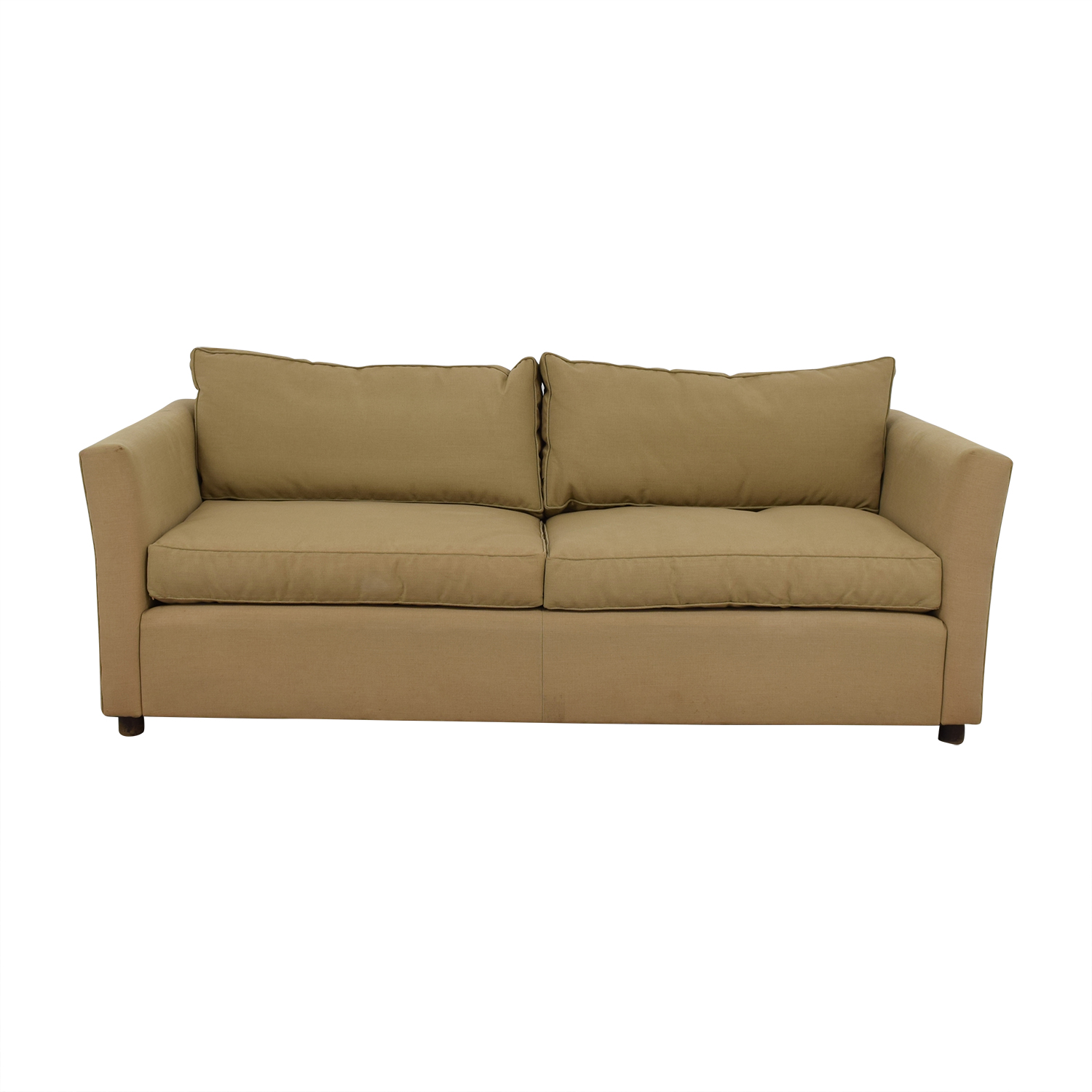 buy Beige Two-Cushion Sofa