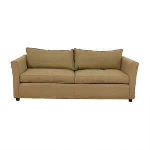 Beige Two-Cushion Sofa sale