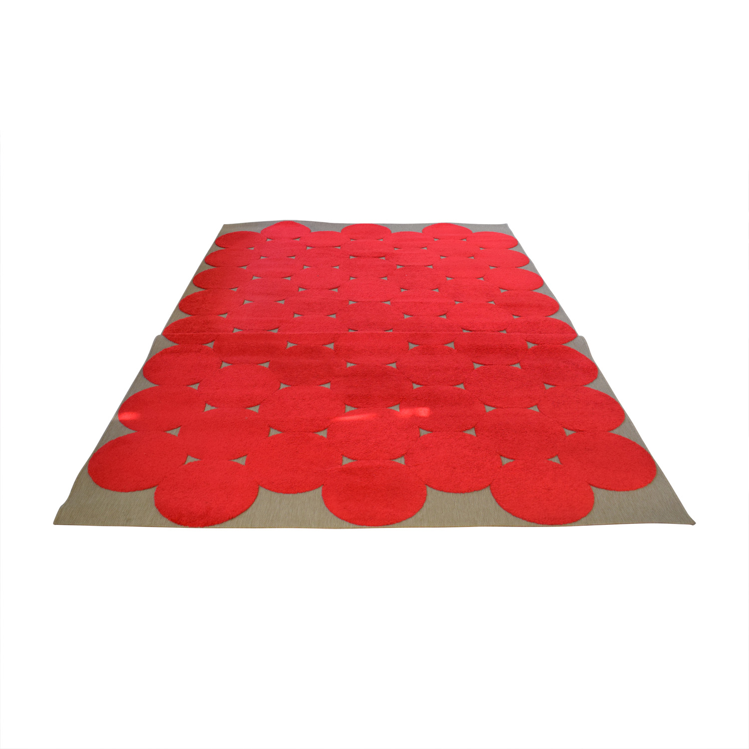 90 Off Ikea Red Circle Rug Decor