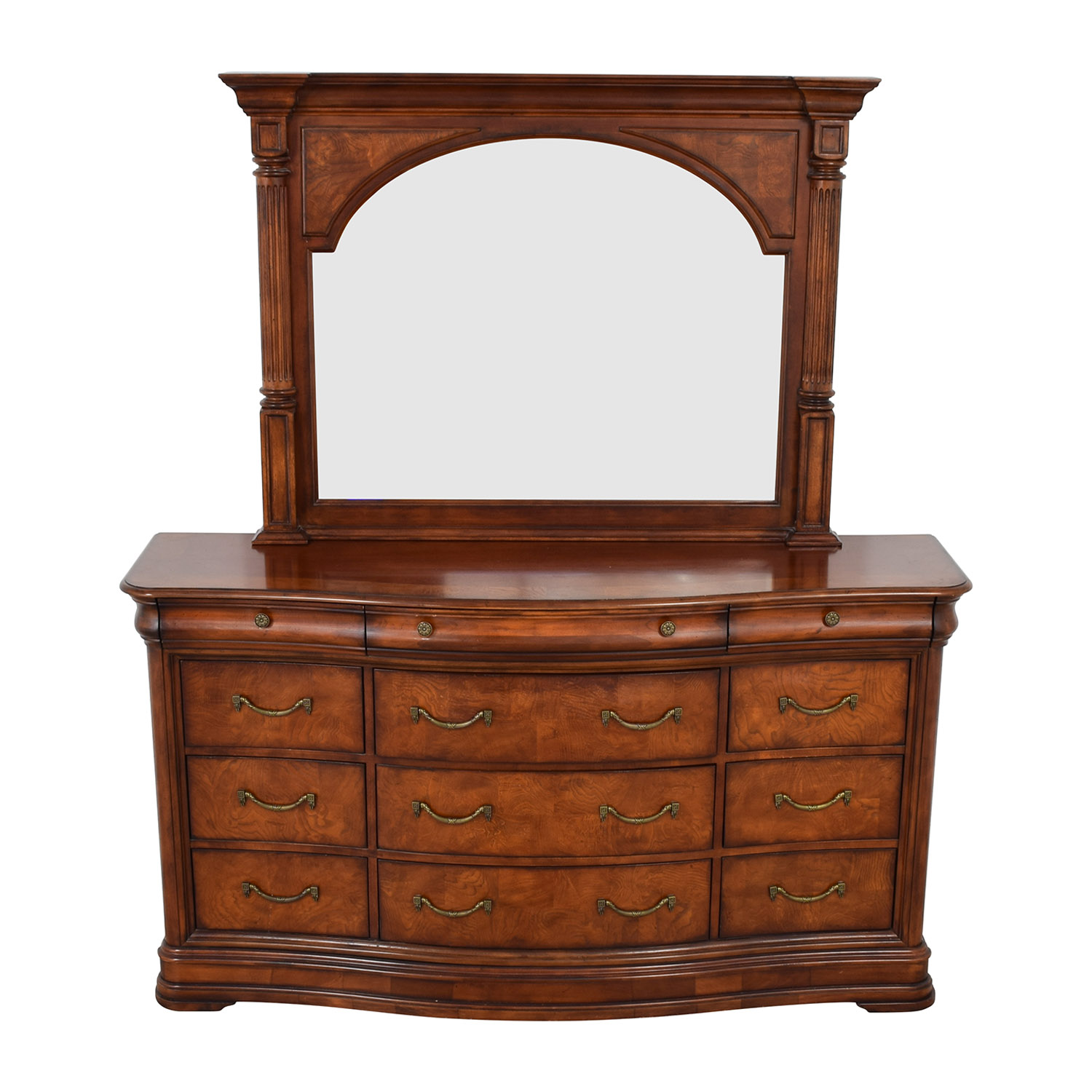 Universal Furniture Universal Furniture Triple Dresser with Mirror dimensions