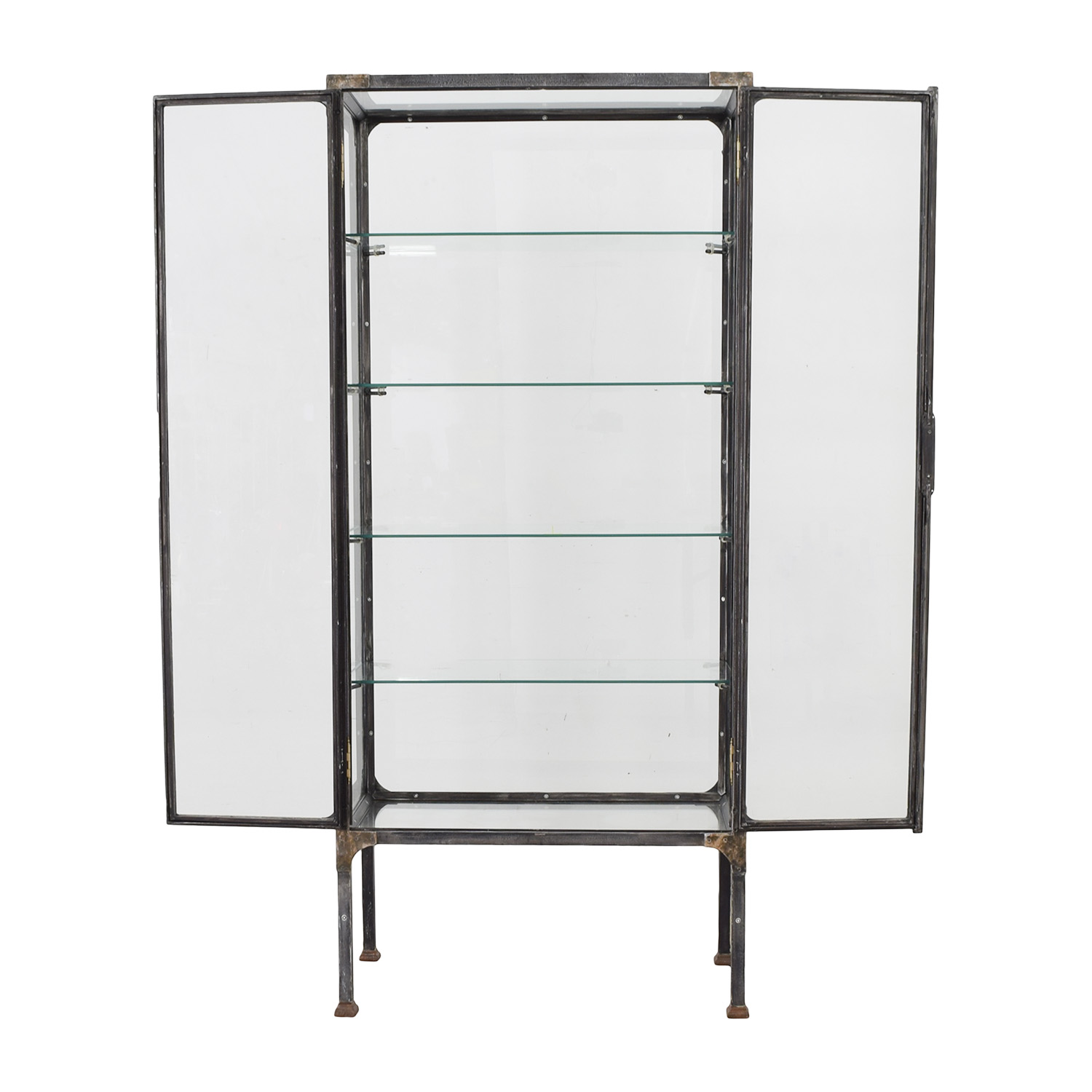 Restoration Hardware Restoration Hardware Steel & Glass Surgeon's Cabinet on sale