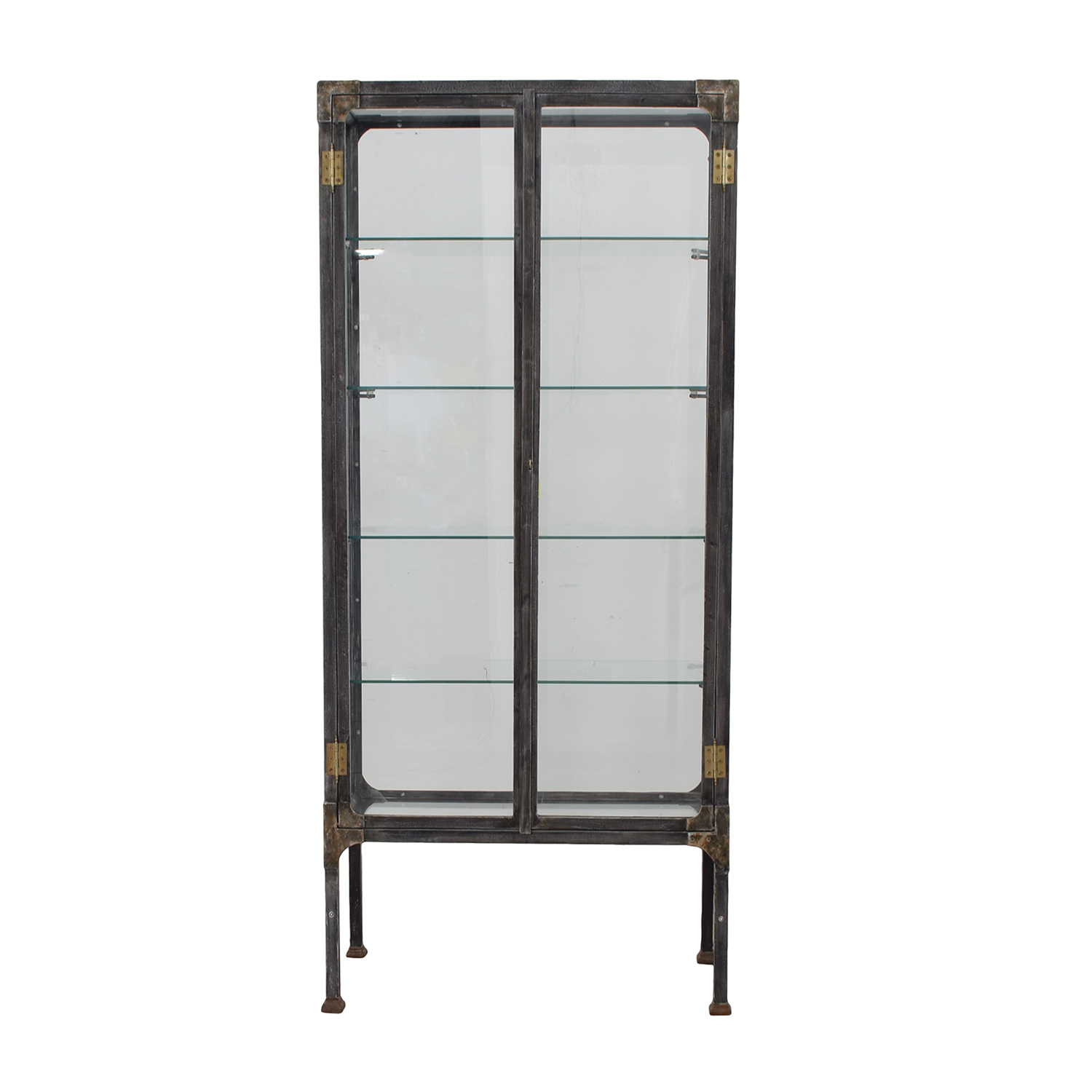 Restoration Hardware Steel & Glass Surgeon's Cabinet / Media Units