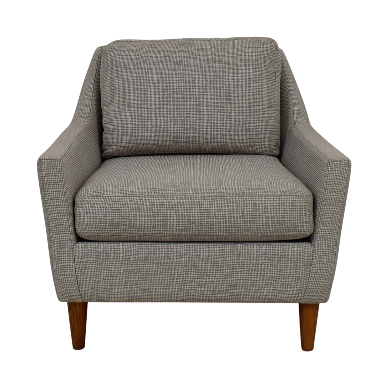 buy West Elm Everett Grey Accent Chair West Elm