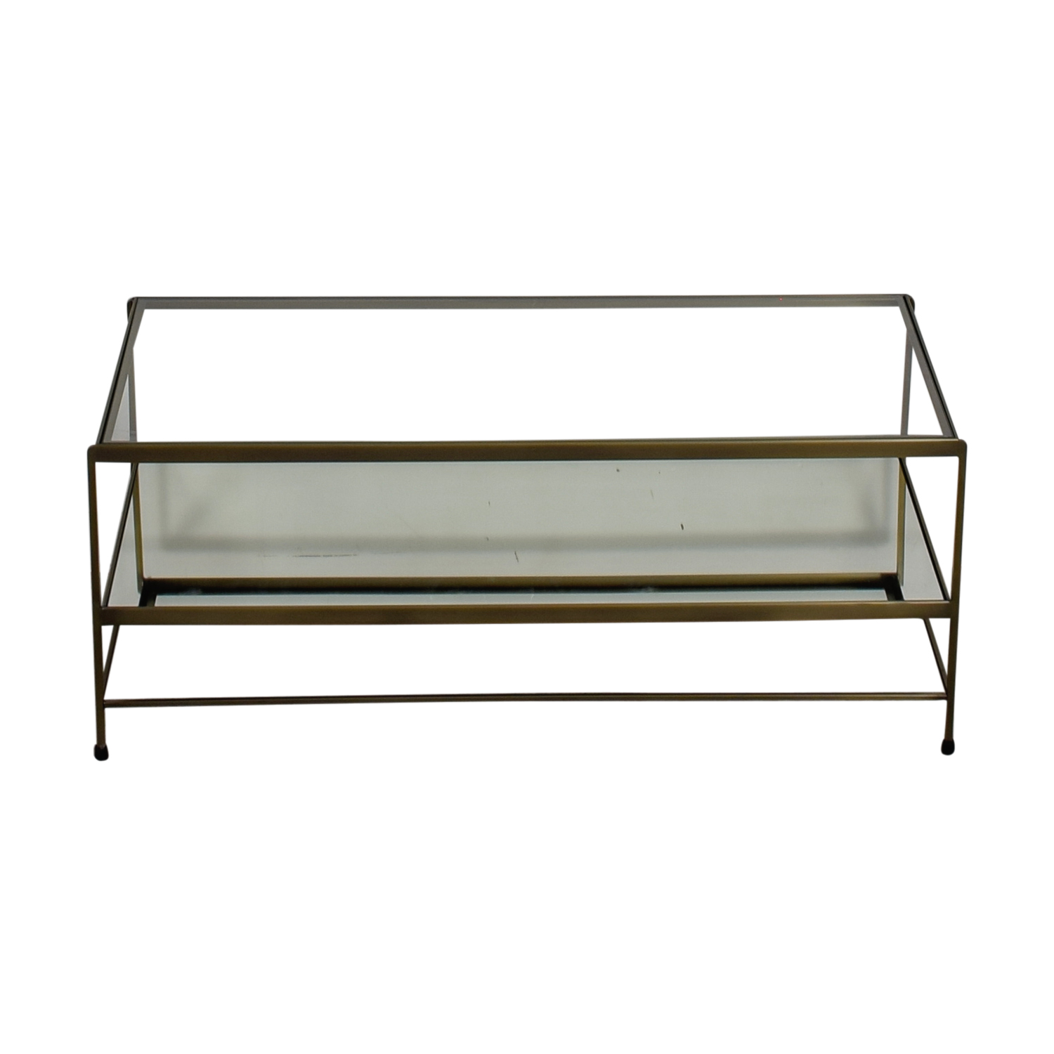 shop Pottery Barn Leona Metal Rectangular Coffee Table Brass Pottery Barn Sofas