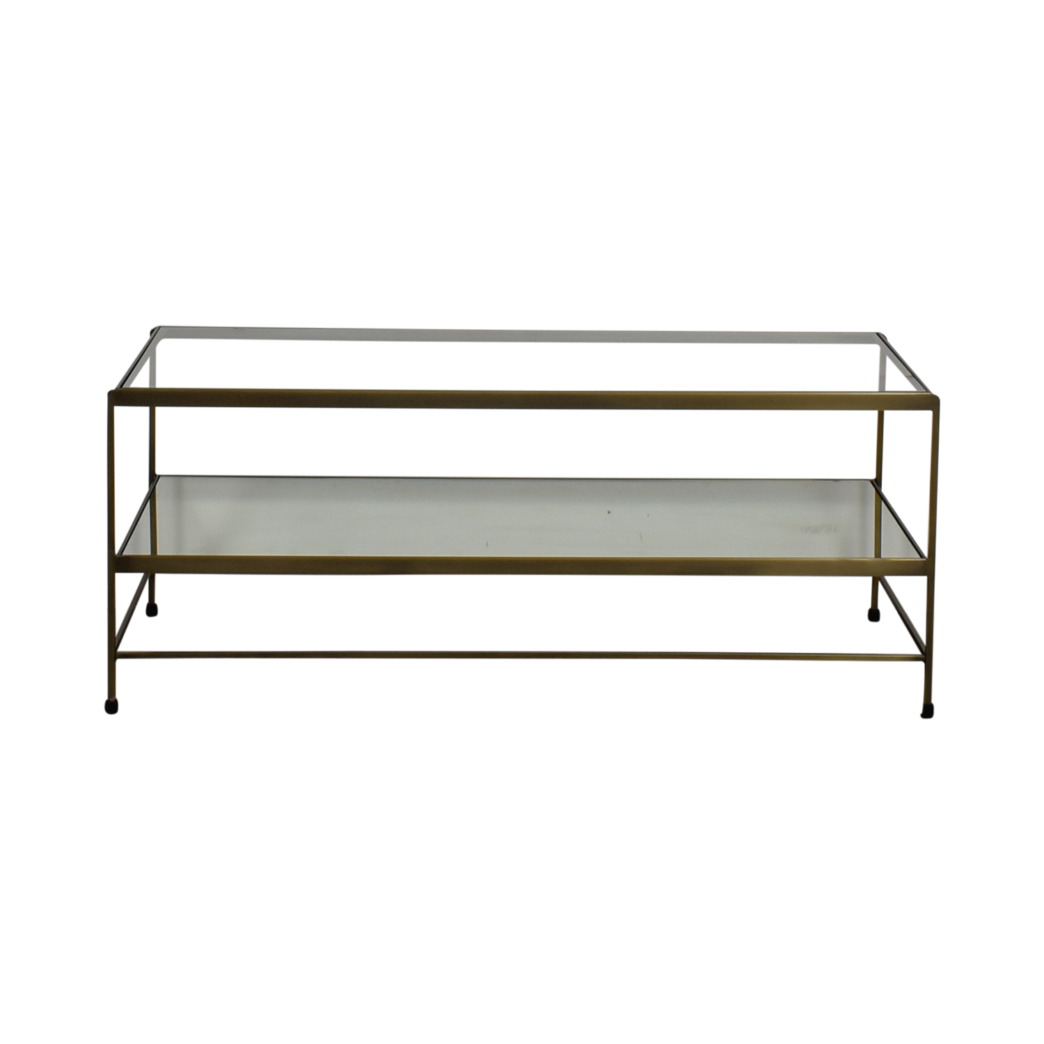Pottery Barn Leona Metal Rectangular Coffee Table Brass / Sofas