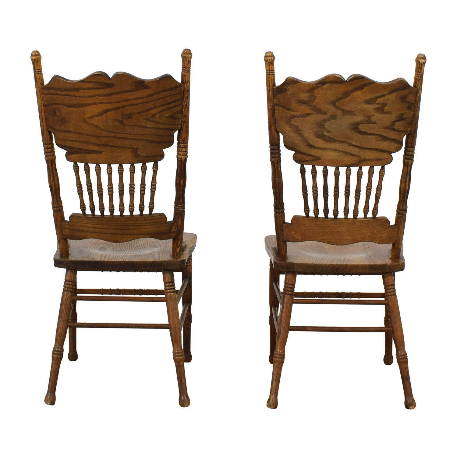 Oak Double Press Back Side Chairs coupon