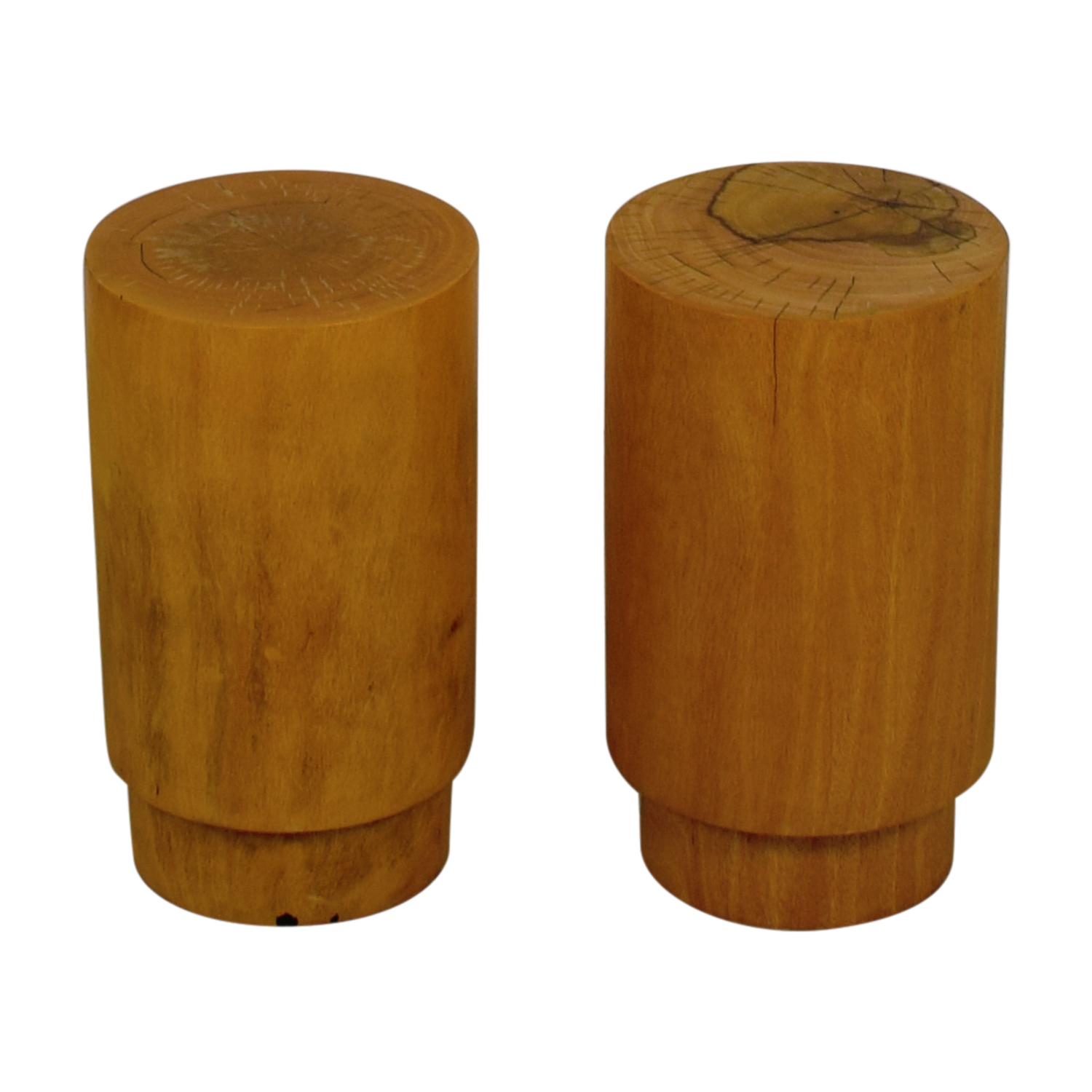 Round Wood Side Tables or Stools Stools