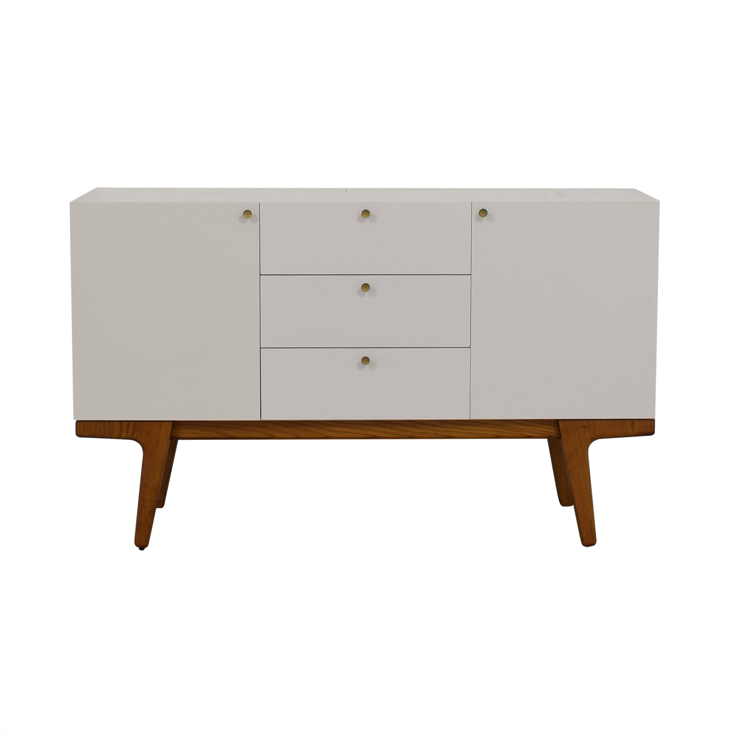 West Elm White Modern Media Console West Elm