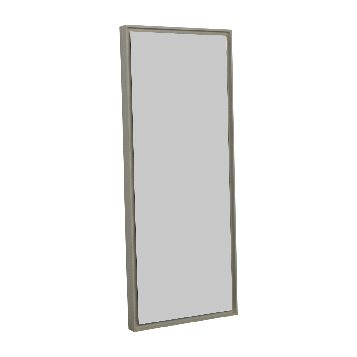West Elm West Elm White Floating Mirror on sale
