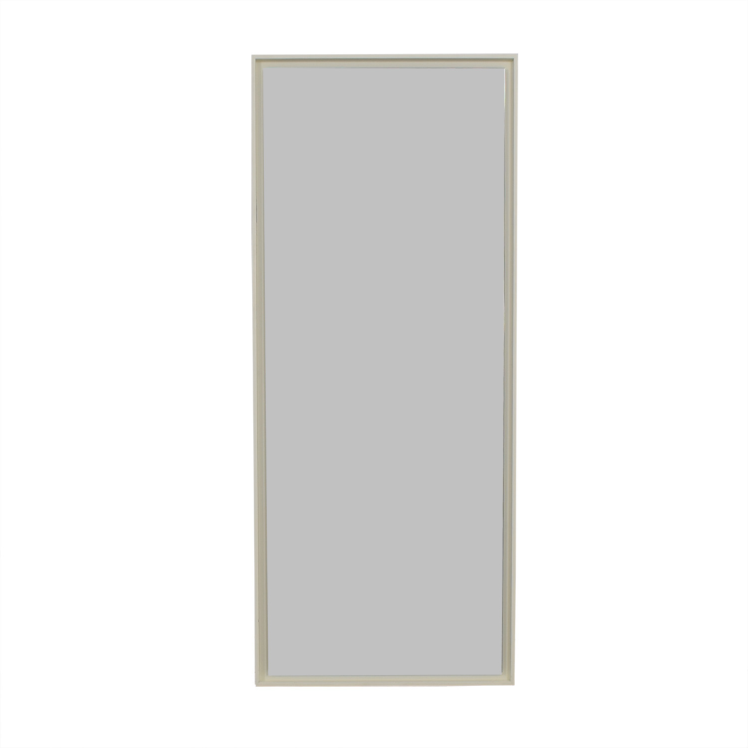 West Elm White Floating Mirror sale