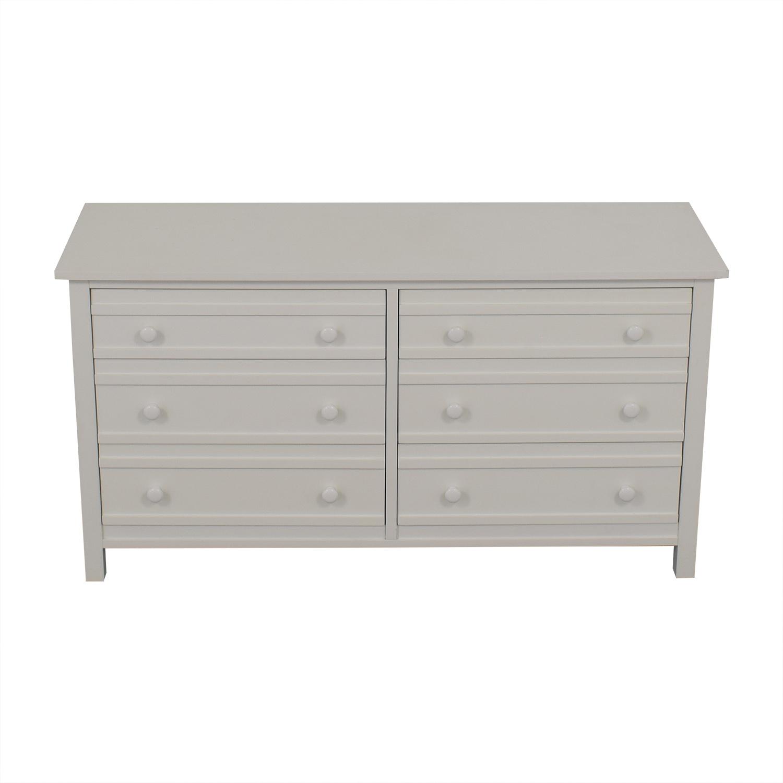 buy Crate & Barrel Crate & Barrel Brighton White Six-Drawer Dresser online