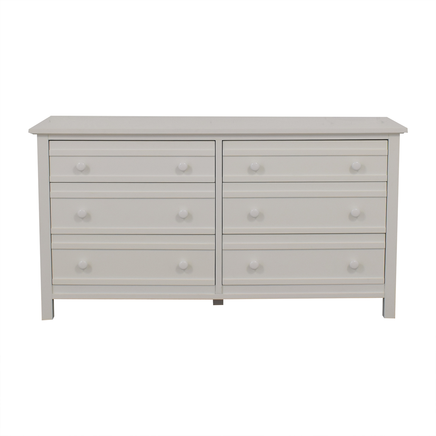 Crate & Barrel Crate & Barrel Brighton White Six-Drawer Dresser second hand