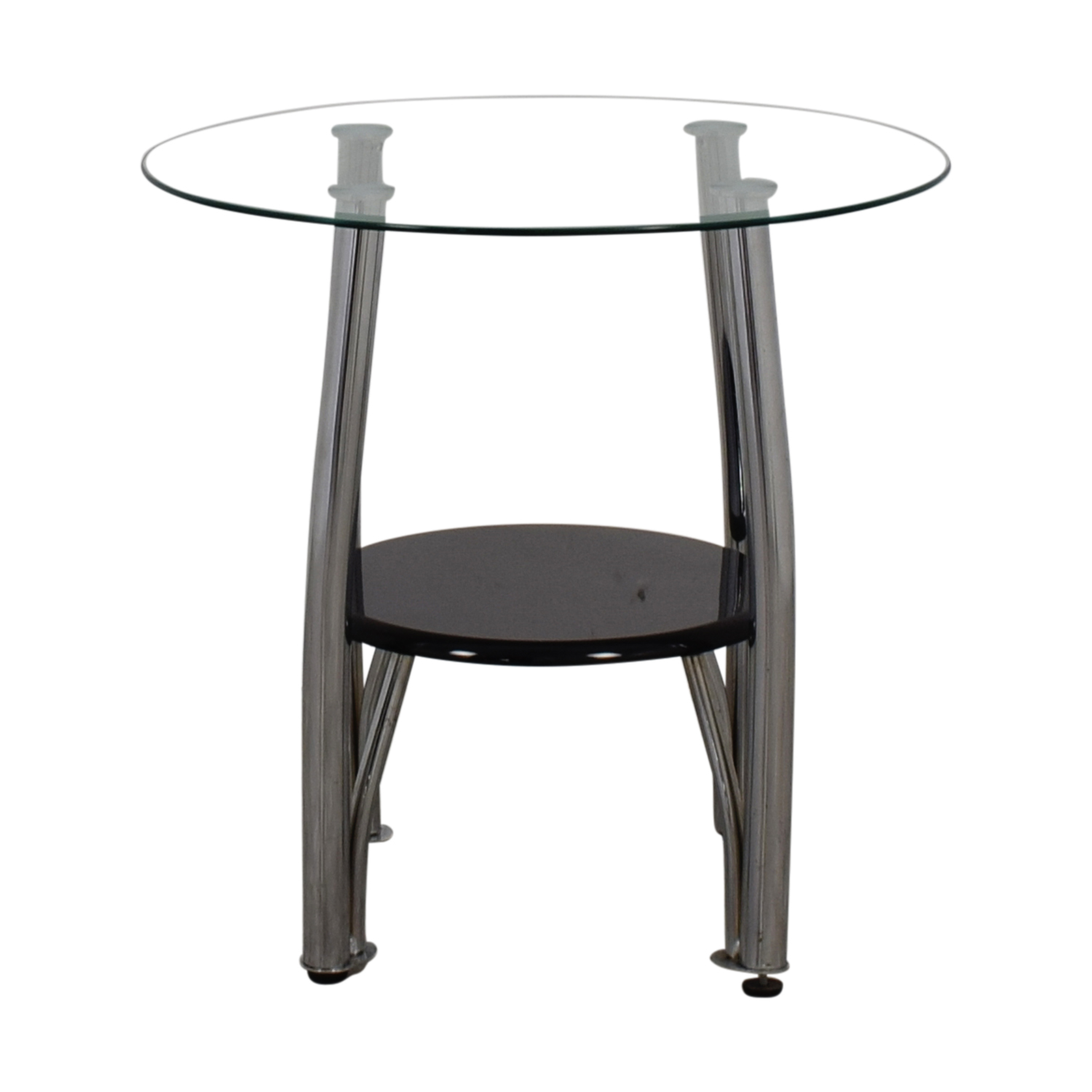 Ashley Furniture Ashley Furniture Round Glass and Black End Table