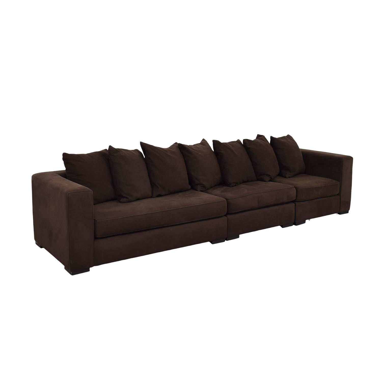 65 Off West Elm West Elm Brown Modular Sofa Sofas