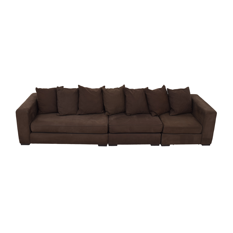 West Elm West Elm Brown Modular Sofa dimensions