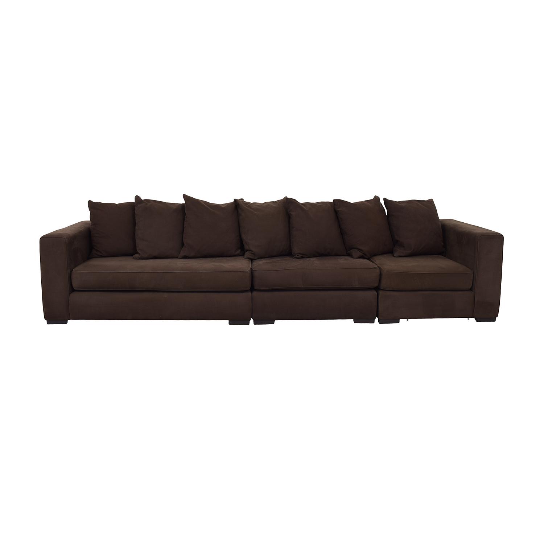 shop West Elm Brown Modular Sofa West Elm