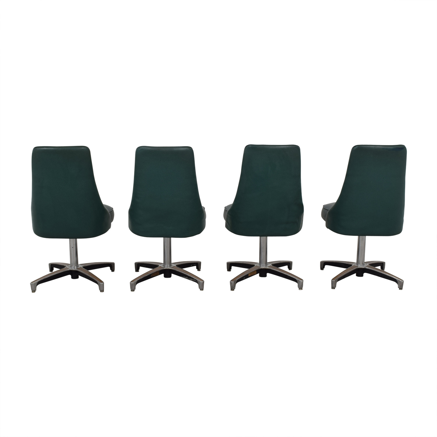 buy Vintage Teal Green Dining Chairs