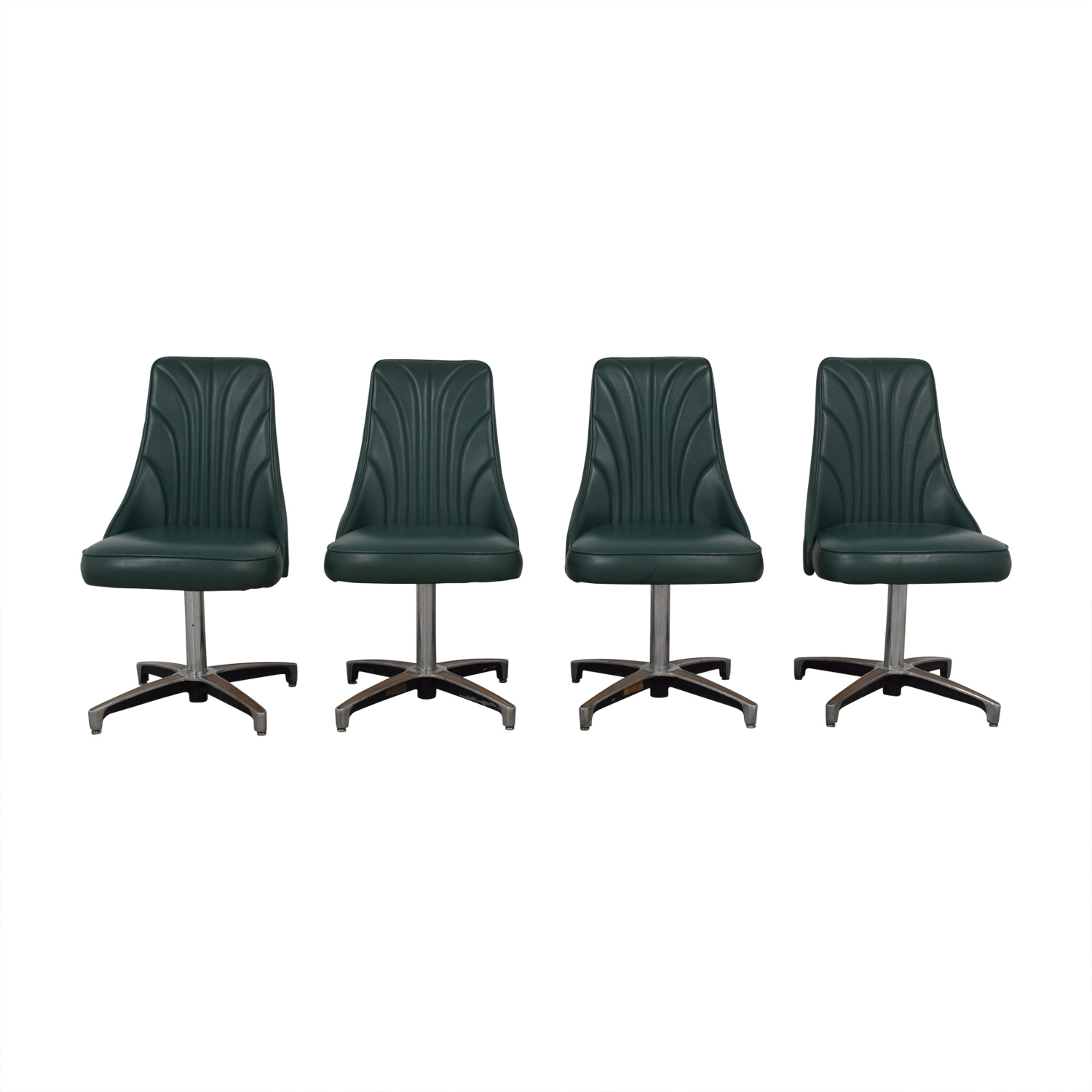 Vintage Teal Green Dining Chairs used