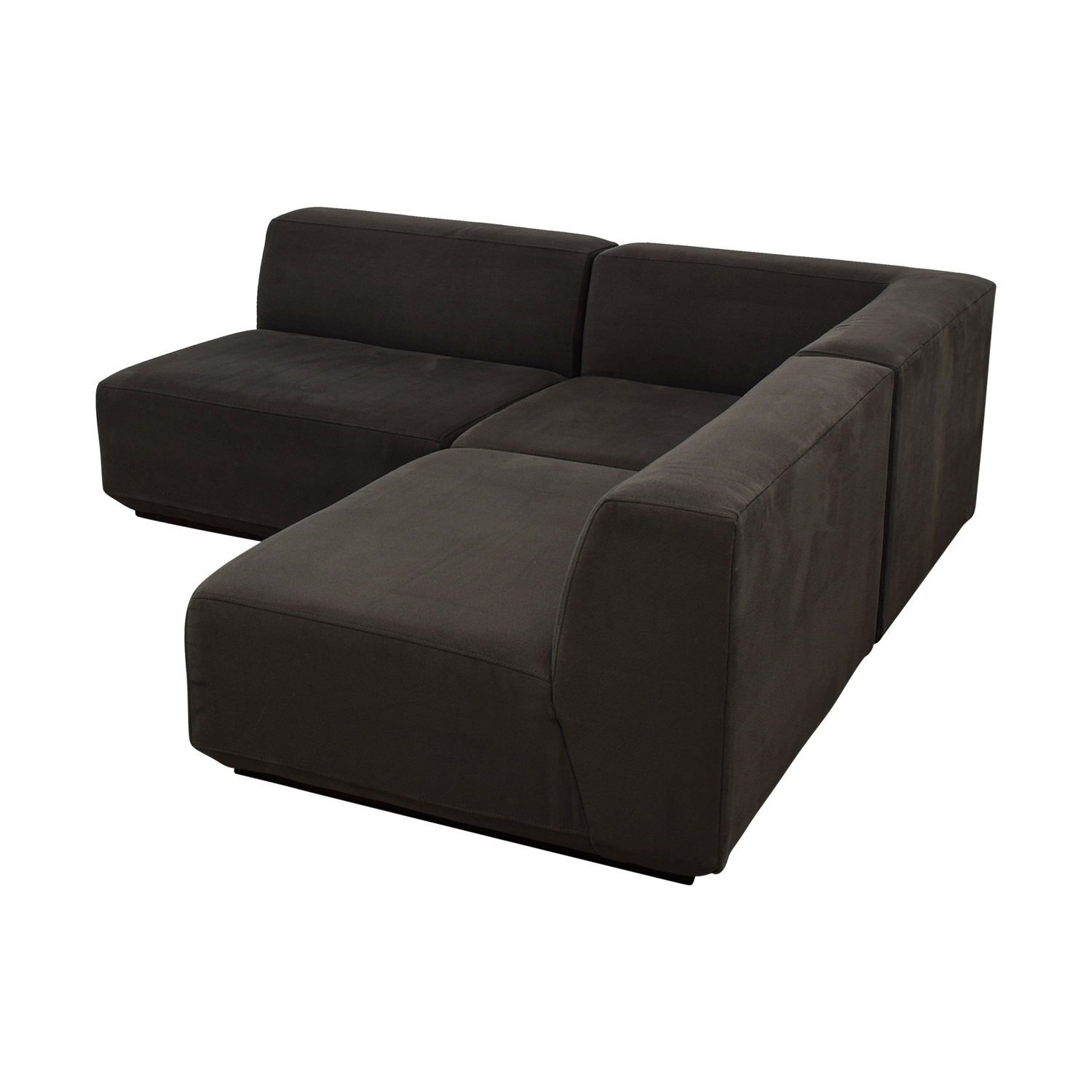 West Elm West Elm Three Piece Sectional Sofa for sale