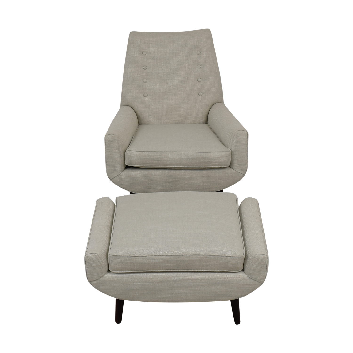 Furniture Masters Furniture Masters Fabric Chair with Ottoman for sale