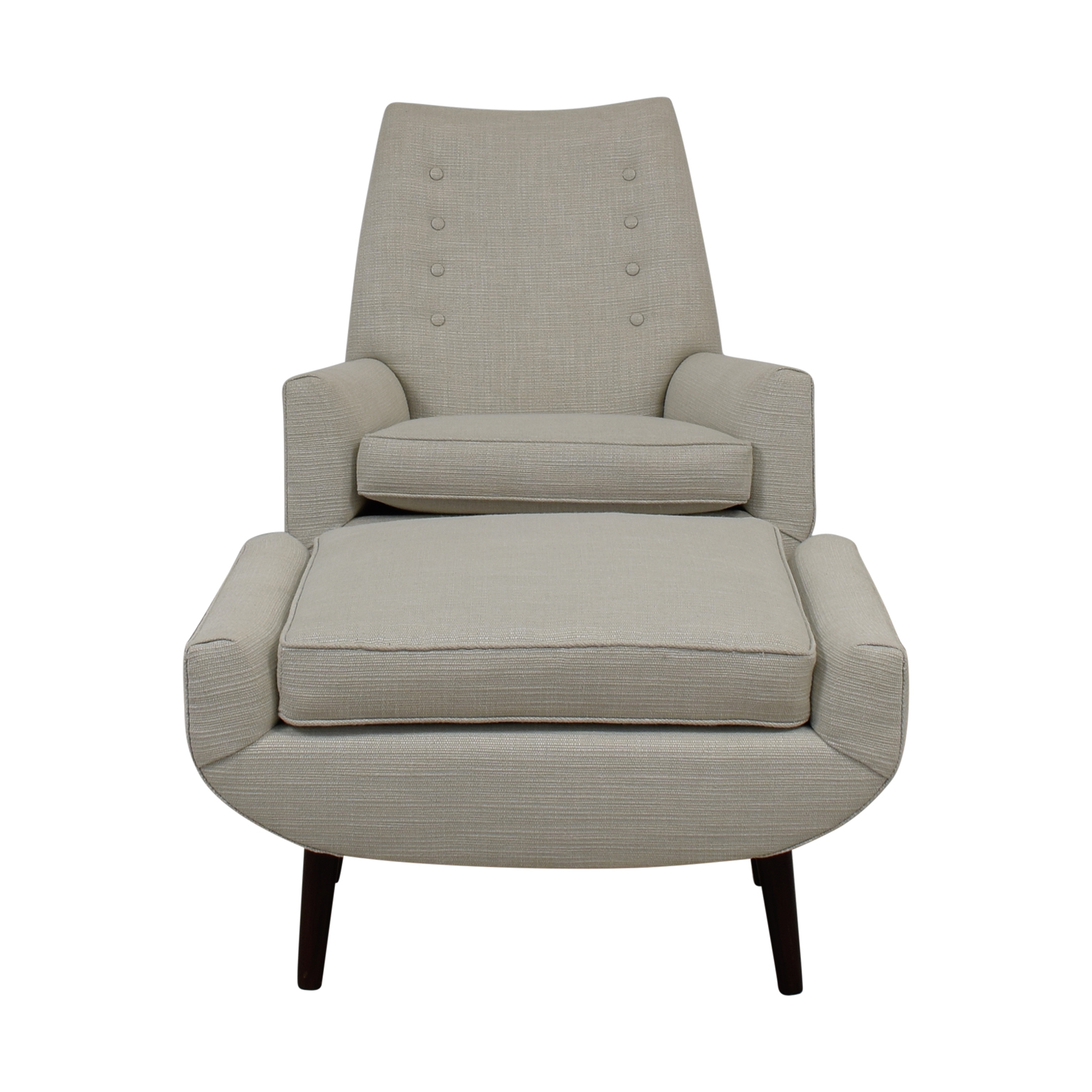 Furniture Masters Furniture Masters Fabric Chair with Ottoman