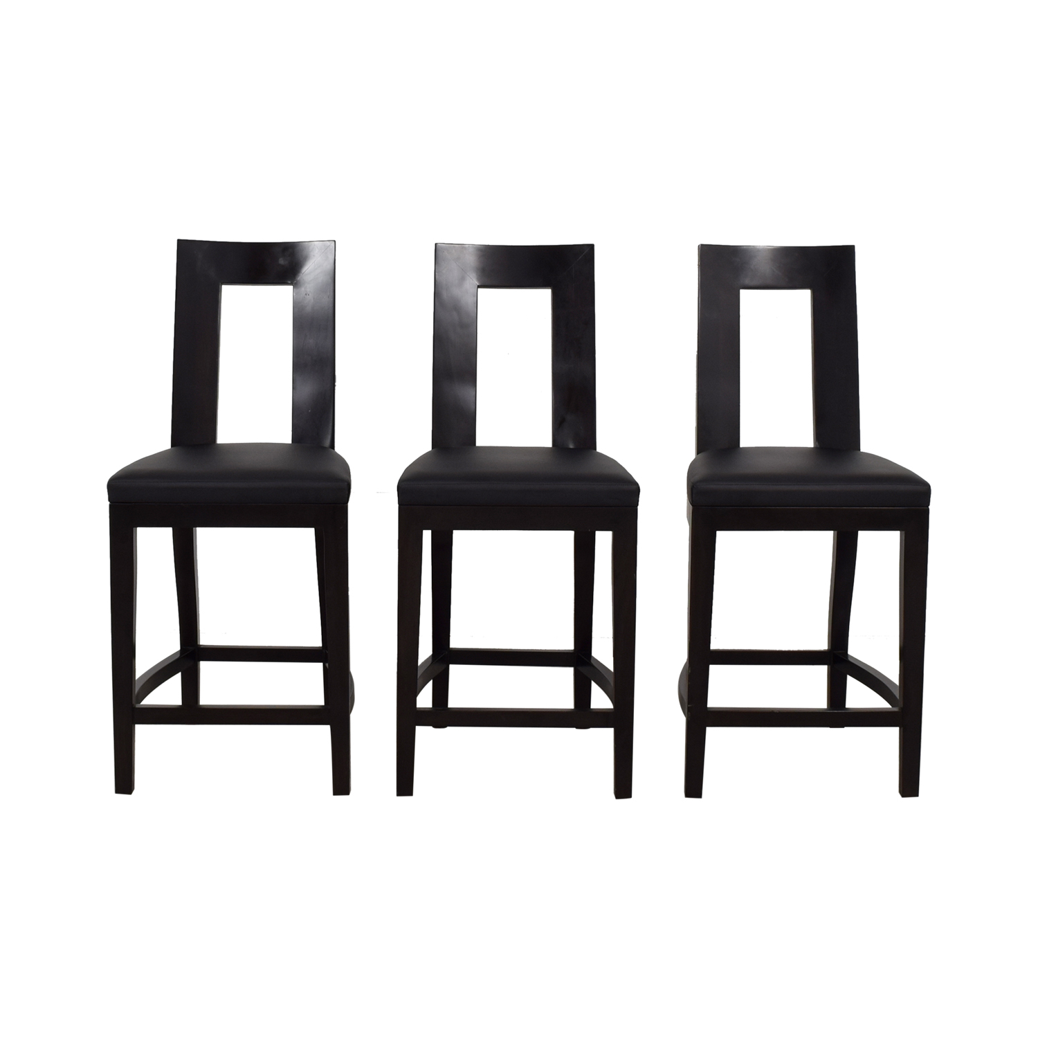 Furniture Masters Furniture Masters Black Bar Stools used