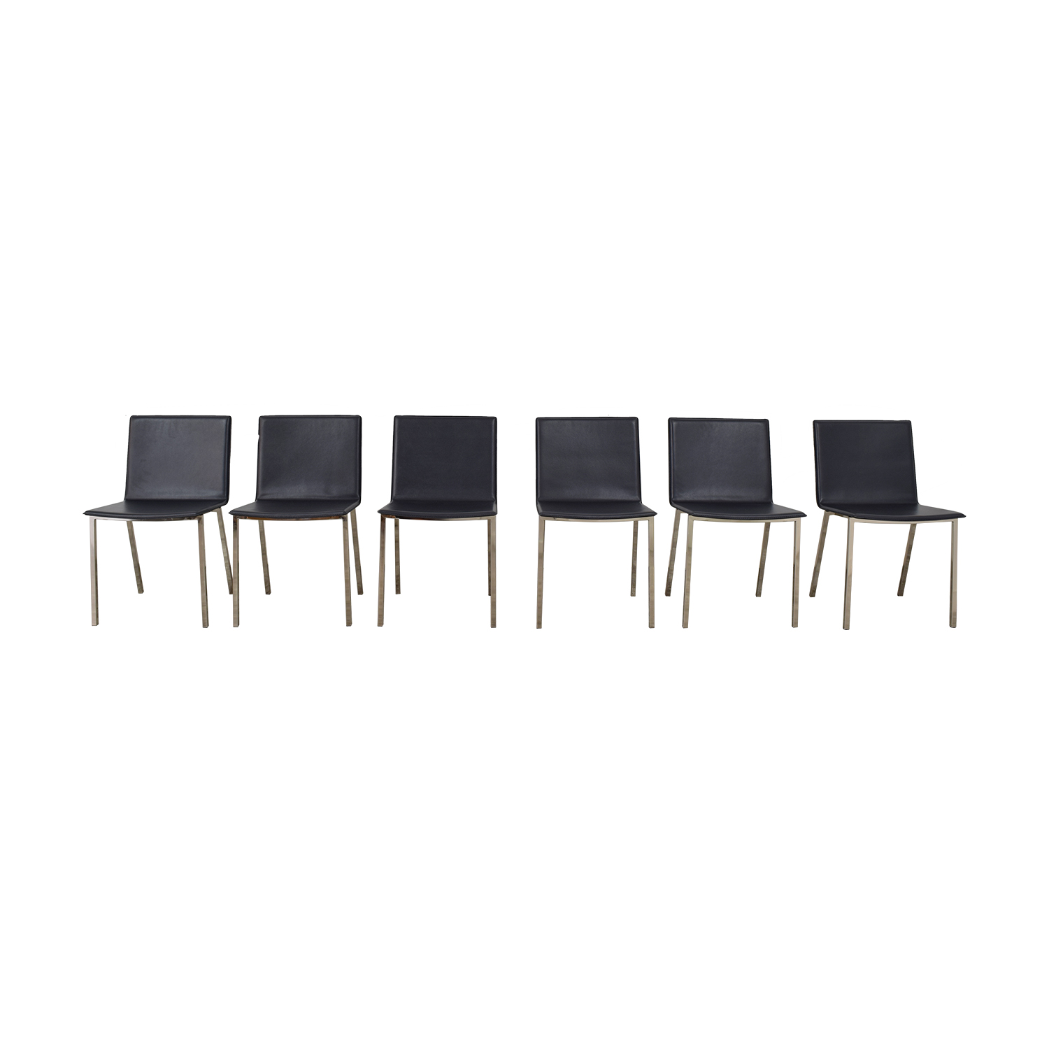 CB2 Phoenix Carbon Grey Chairs sale