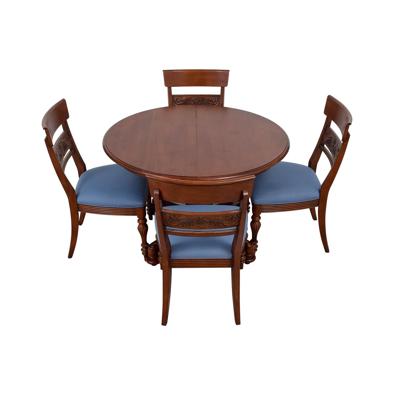 Ethan Allen Ethan Allen Round Extendable Dining Set nj