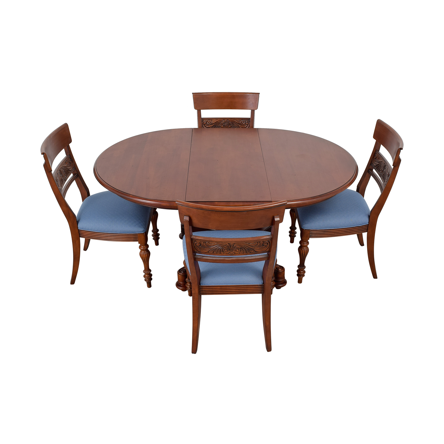 Ethan Allen Round Extendable Dining Set sale