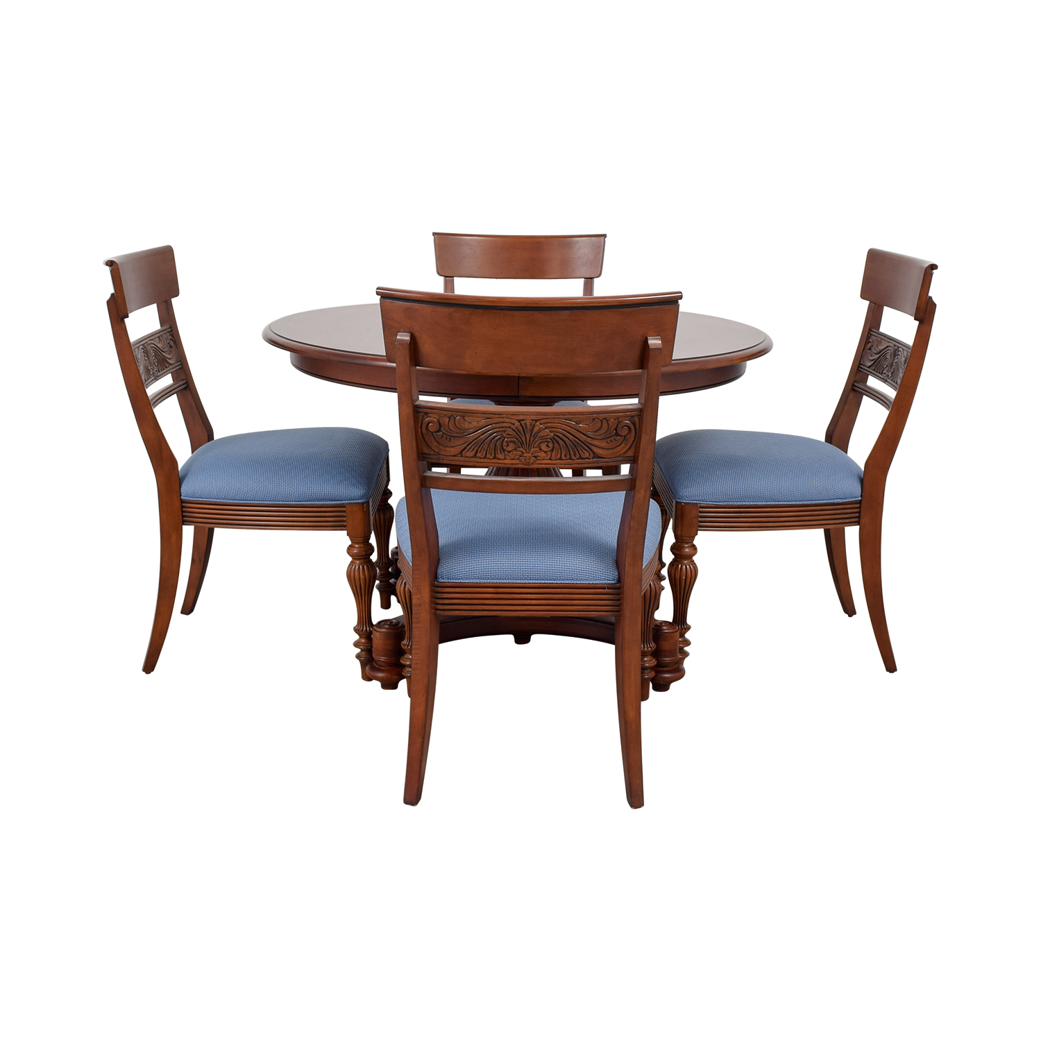 Ethan Allen Ethan Allen Round Extendable Dining Set on sale