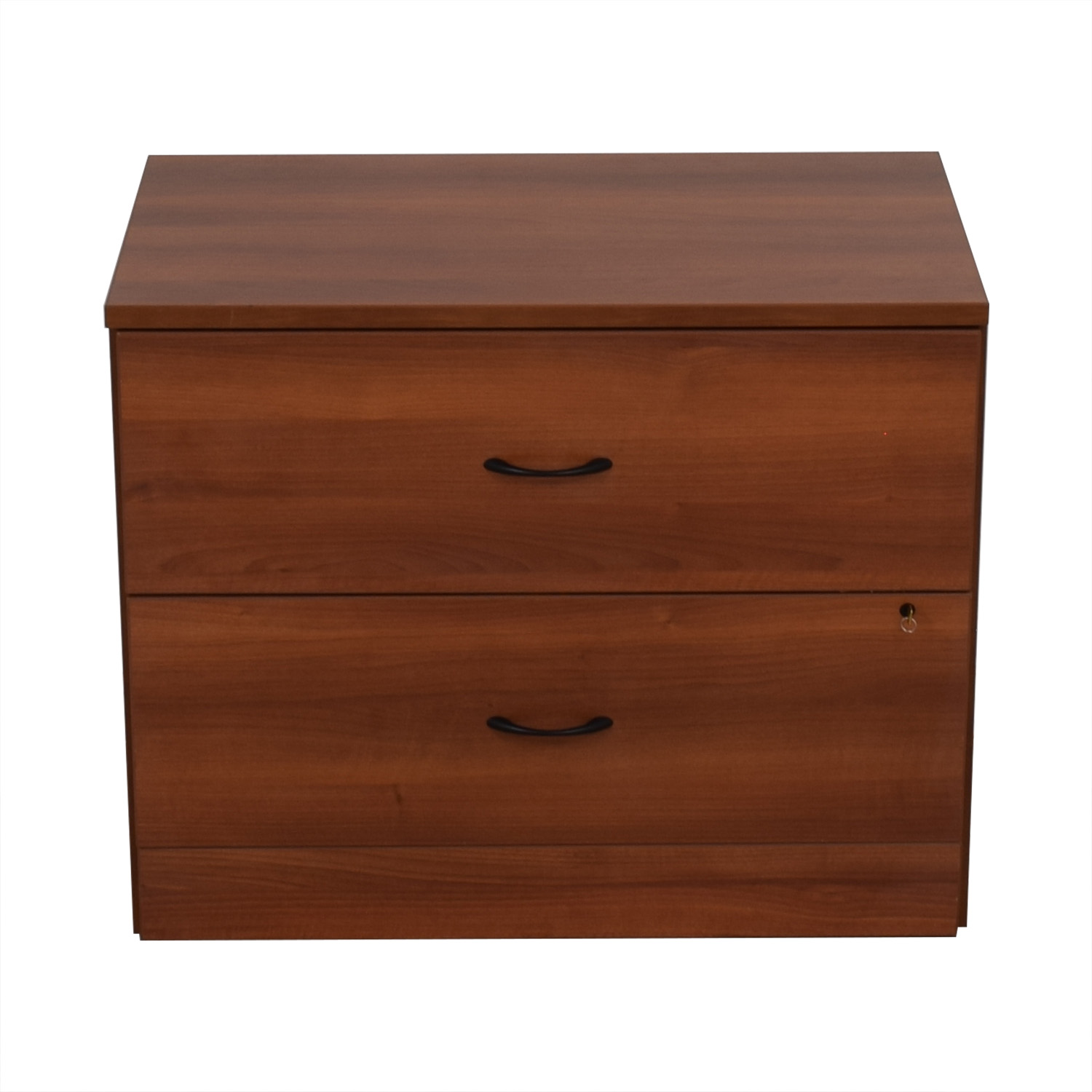 Cherry Two-Drawer Filing Cabinet for sale