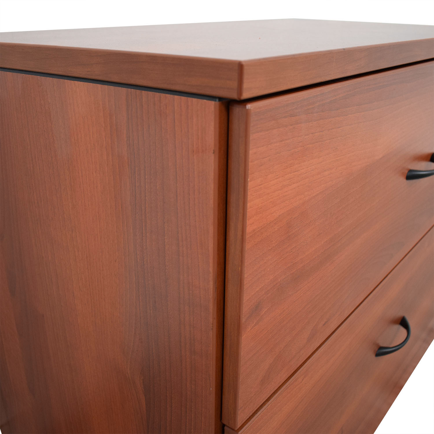 Cherry Two-Drawer Filing Cabinet cherry wood
