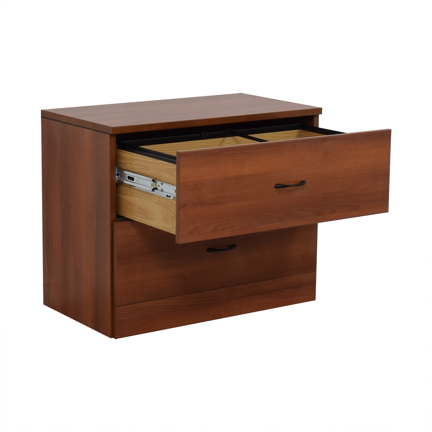 Cherry Two-Drawer Filing Cabinet / Storage