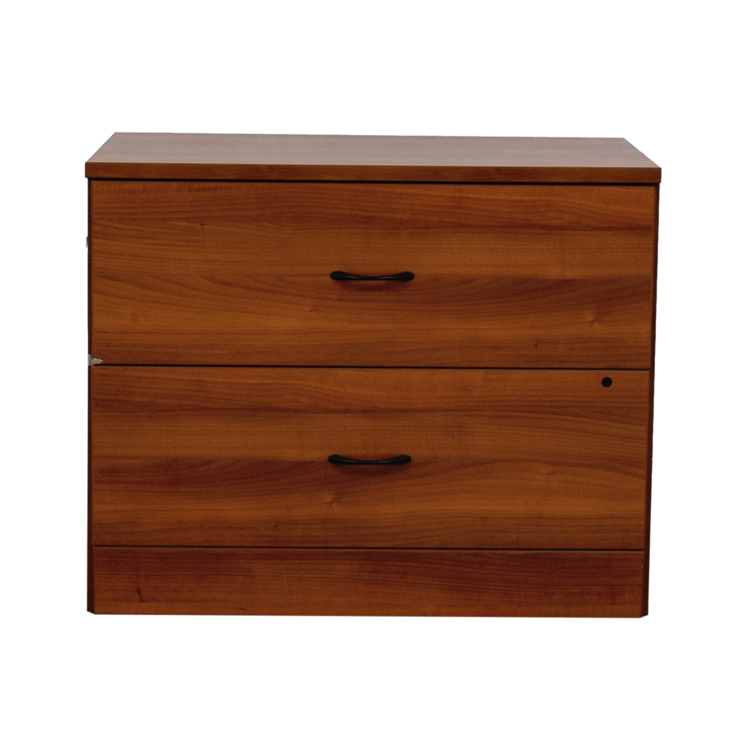 Cherry Two-Drawer Office Filing Cabinet