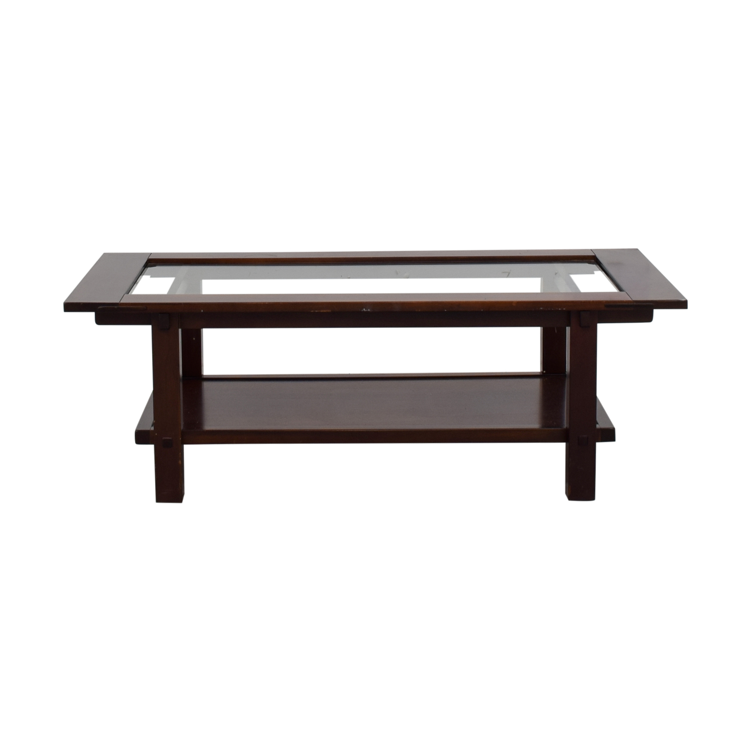 shop Glass and Wood Rectangular Coffee Table  Sofas